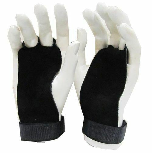 Morgan Leather Palm Grips (Pair)-S-Black-MO REPS® Fitness Store