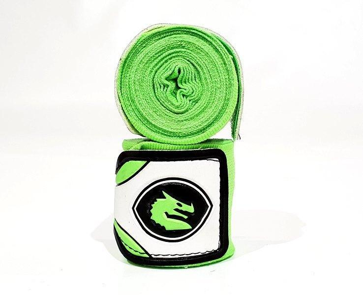 Morgan Mexico Elastic Short Boxing Hand Wraps - 108inch - 2.75M Long (Pair)-Lime-MO REPS® Fitness Store