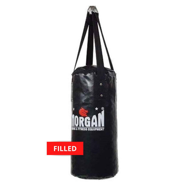 Morgan Mini & Skinny Punch Bag-FILLED-BLACK-MO REPS® Fitness Store