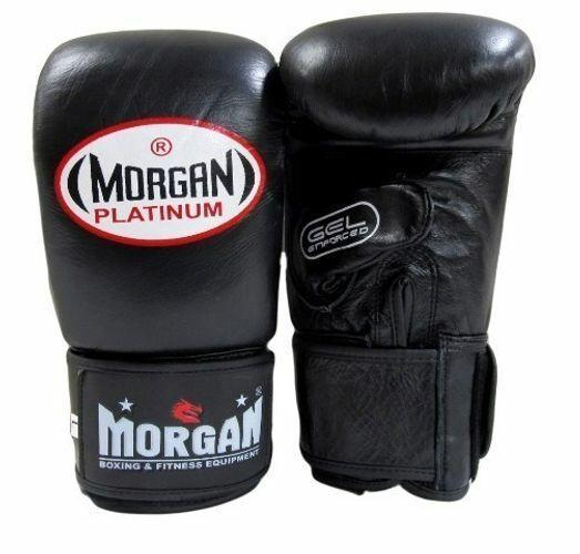Morgan Platinum Gel Curved Leather Bag Mitts-MO REPS® Fitness Store