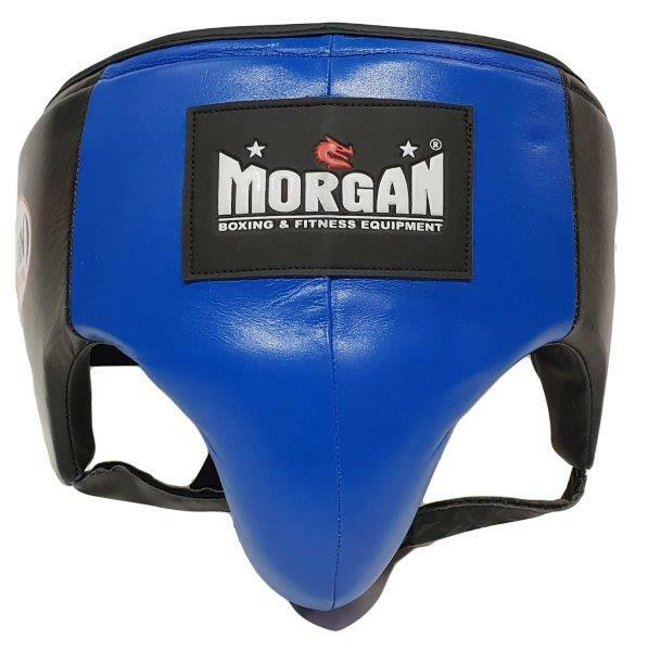 Morgan Platinum Leather Abdominal Groin Guard-S-BLUE-MO REPS® Fitness Store