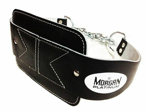 Morgan Platinum Leather Dipping Weight Belt