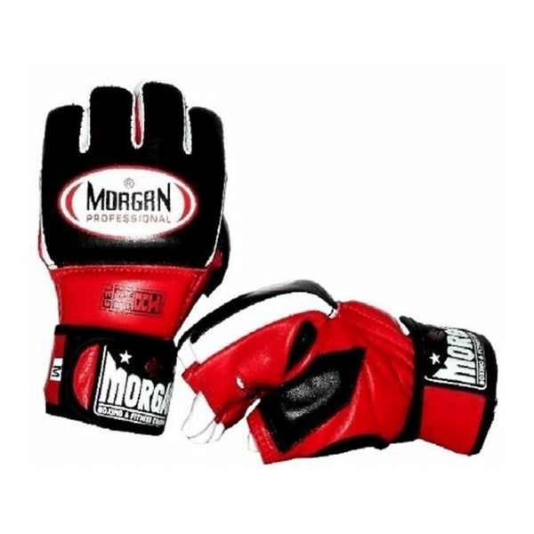 Morgan Professional Gel MMA Hybrid Leather Bag Gloves-SMALL-MO REPS® Fitness Store