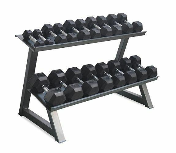 Morgan Rubber Hex Dumbbell Rack - DLX-MO REPS® Fitness Store