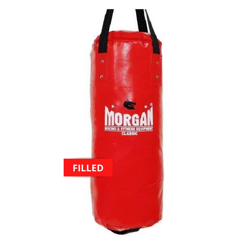 Morgan Short & Skinny Punch Bag-FILLED-RED-MO REPS® Fitness Store