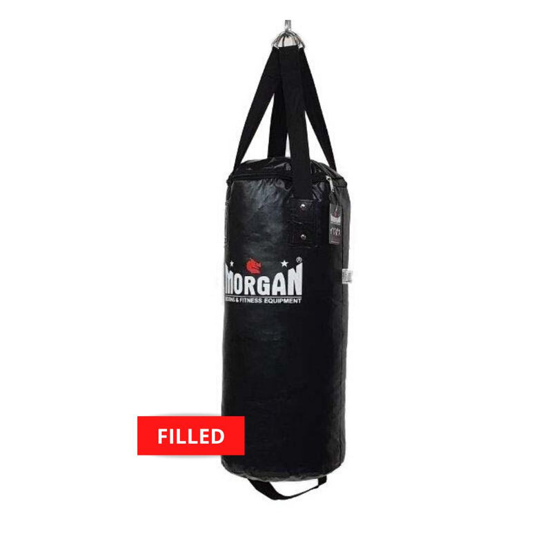 Morgan Small Nugget Punch Bag-FILLED-BLACK-MO REPS® Fitness Store