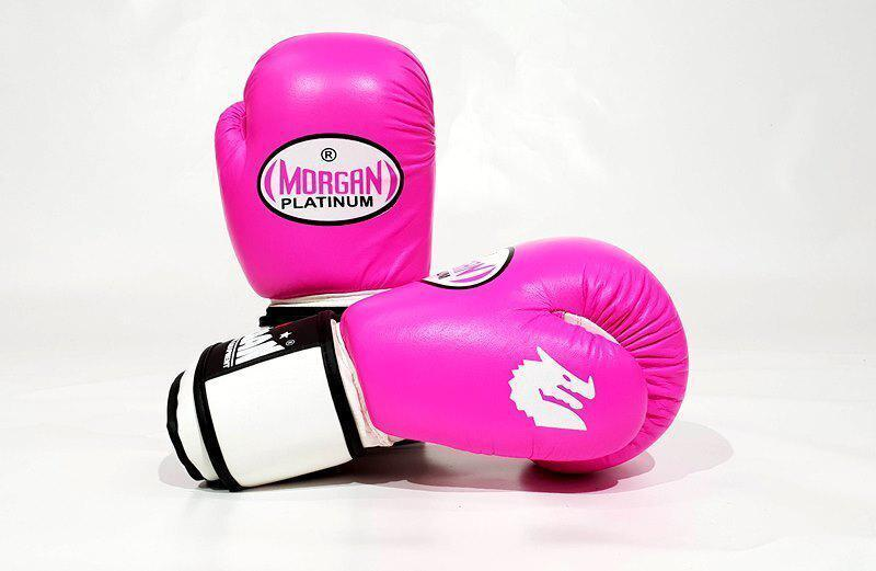 Morgan V2 Platinum Leather Sparring Gloves (10oz-16oz)-10oz-Pink-MO REPS® Fitness Store