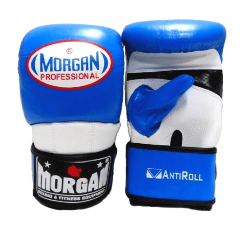 Morgan V2 Professional Curved Leather Bag Mitts-SMALL-BLUE-MO REPS® Fitness Store