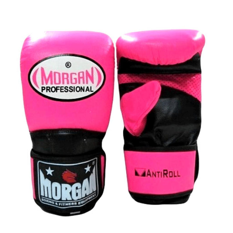 Morgan V2 Professional Curved Leather Bag Mitts-SMALL-PINK-MO REPS® Fitness Store