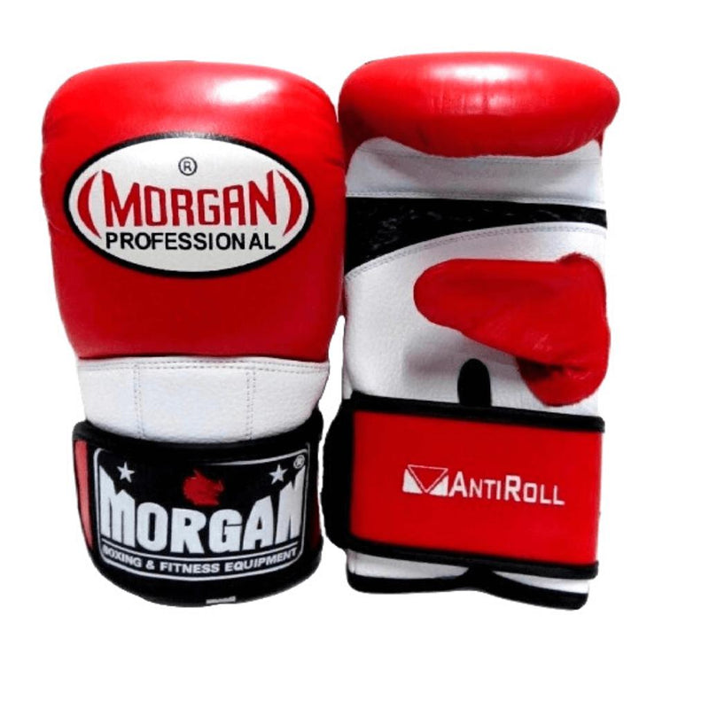 Morgan V2 Professional Curved Leather Bag Mitts-SMALL-RED-MO REPS® Fitness Store