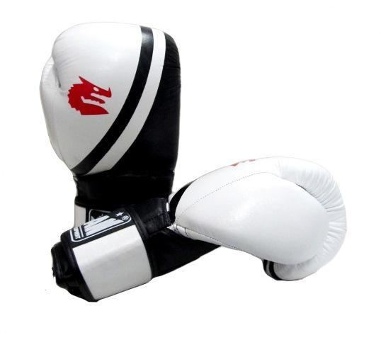 Morgan V2 Professional Leather Boxing Gloves-10oz-White-MO REPS® Fitness Store