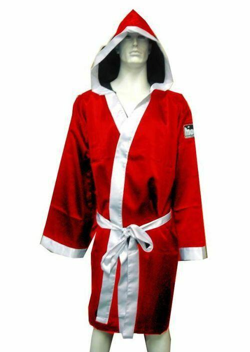 Morgan Walk Out Boxing Robe-RED-MO REPS® Fitness Store