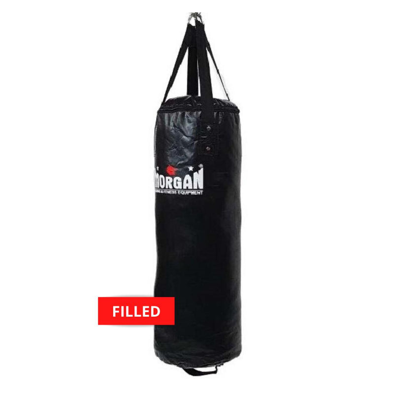 Morgan X-Large Nugget Punch Bag-Filled-Black-MO REPS® Fitness Store