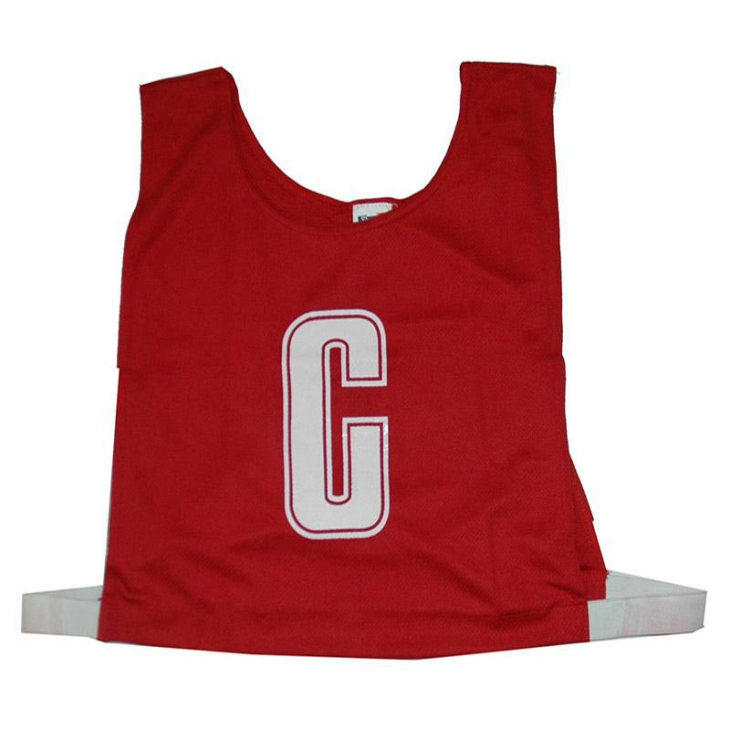 Red Netball Bib Set