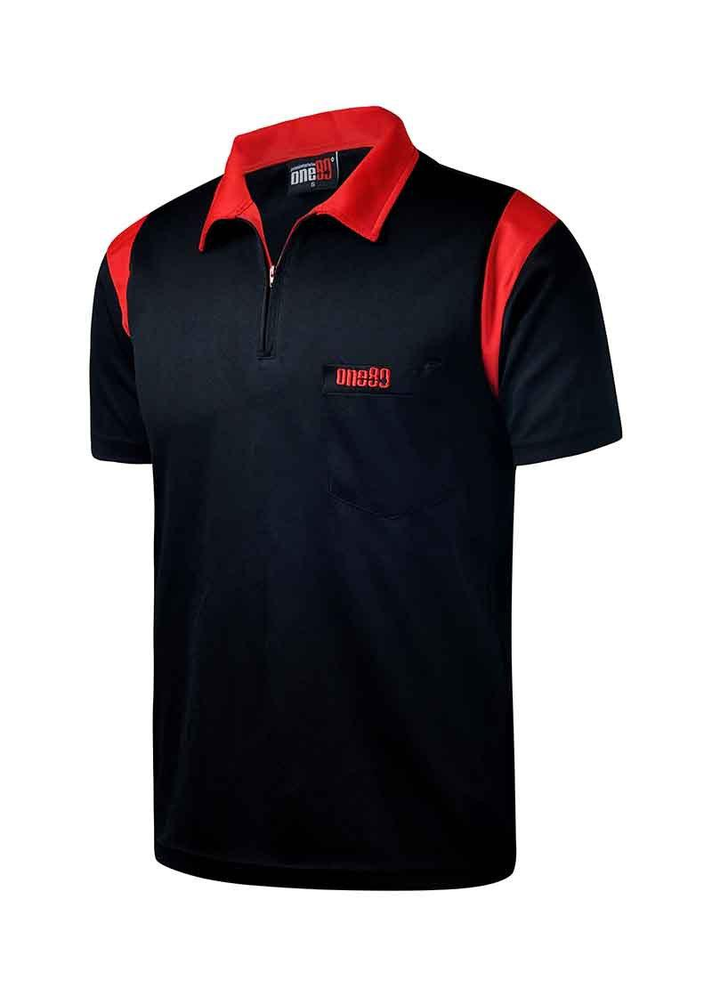 ONE80 Dart Polo Shirt-RedBlack-XL-MO REPS® Fitness Store