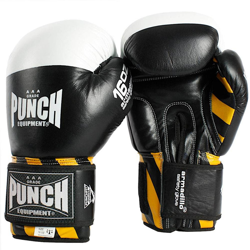 Punch Armadillo Safety Boxing Gloves V30-12oz-Black-MO REPS® Fitness Store
