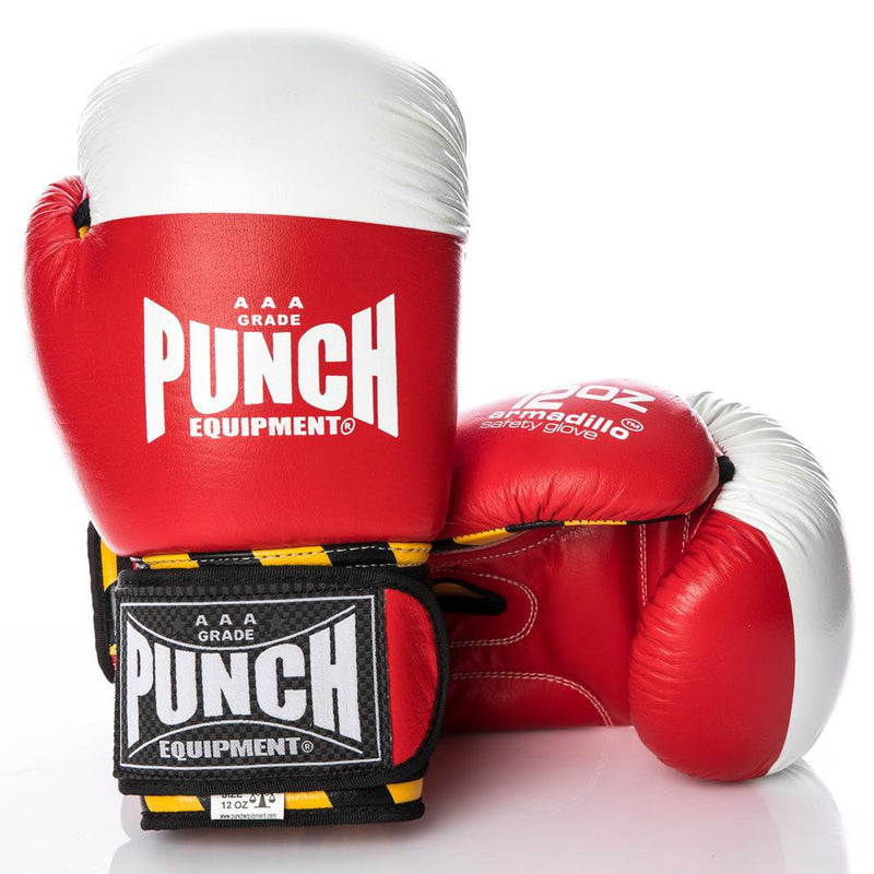 Punch Armadillo Safety Boxing Gloves V30-12oz-Red-MO REPS® Fitness Store