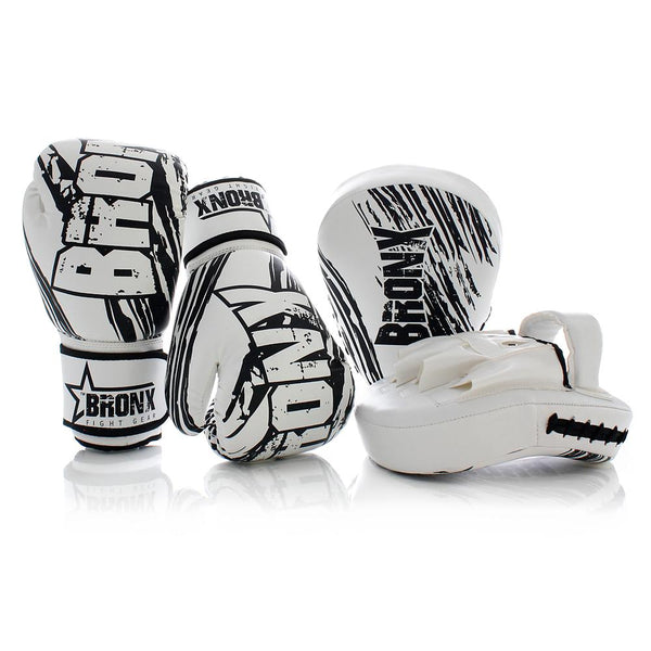 Punch Bronx Rebel Boxing Combo Pack (12oz Boxing Gloves + Focus Pads)-MO REPS® Fitness Store