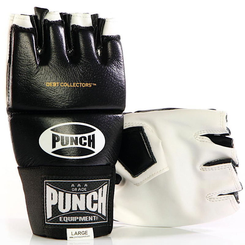 Punch Debt Collectors MMA Mitts-S-Black-MO REPS® Fitness Store