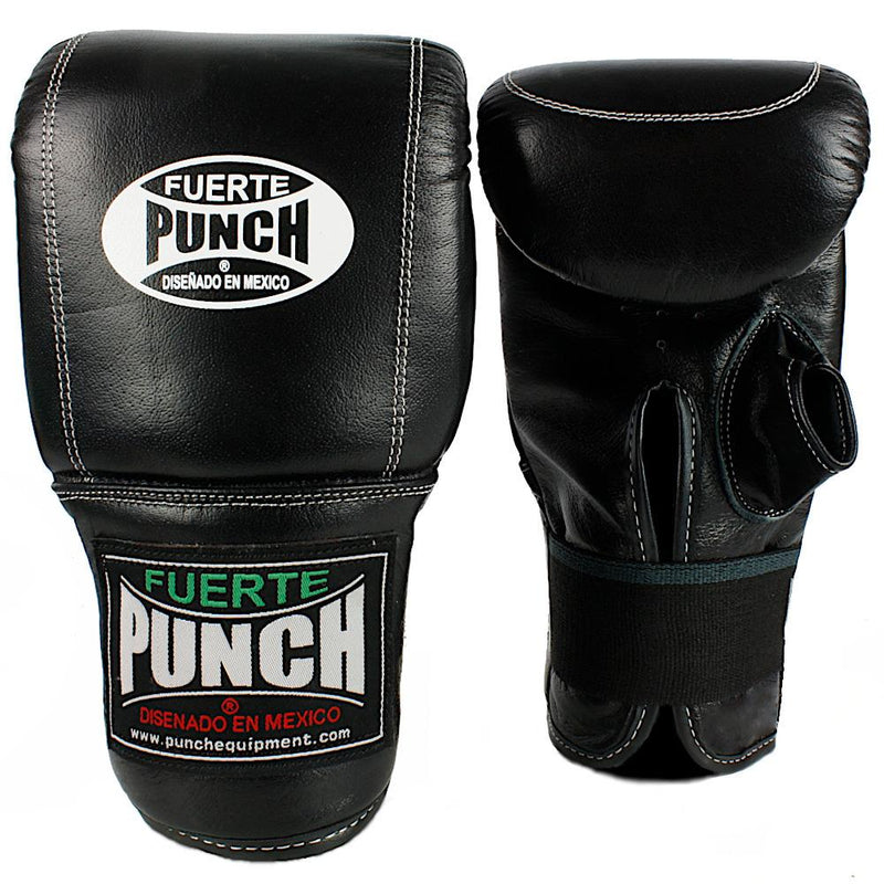 Punch Mexican Fuerte Boxing Bag Mitts-Black-MO REPS® Fitness Store