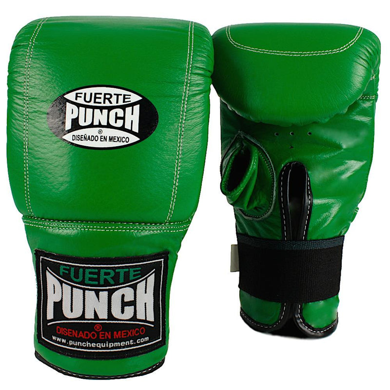 Punch Mexican Fuerte Boxing Bag Mitts-Green-MO REPS® Fitness Store