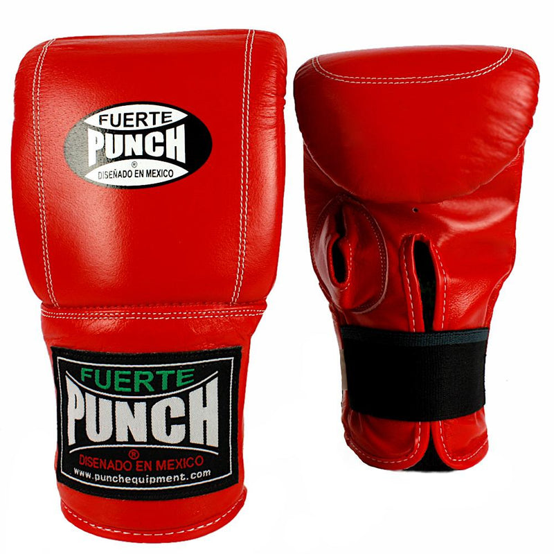 Punch Mexican Fuerte Boxing Bag Mitts-Red-MO REPS® Fitness Store