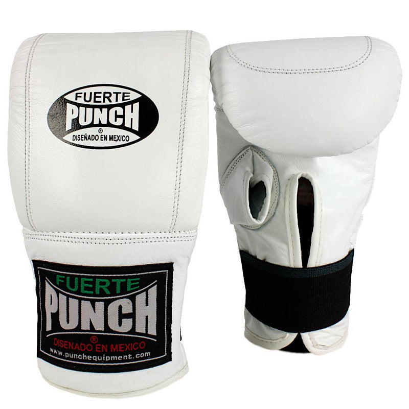 Punch Mexican Fuerte Boxing Bag Mitts-White-MO REPS® Fitness Store