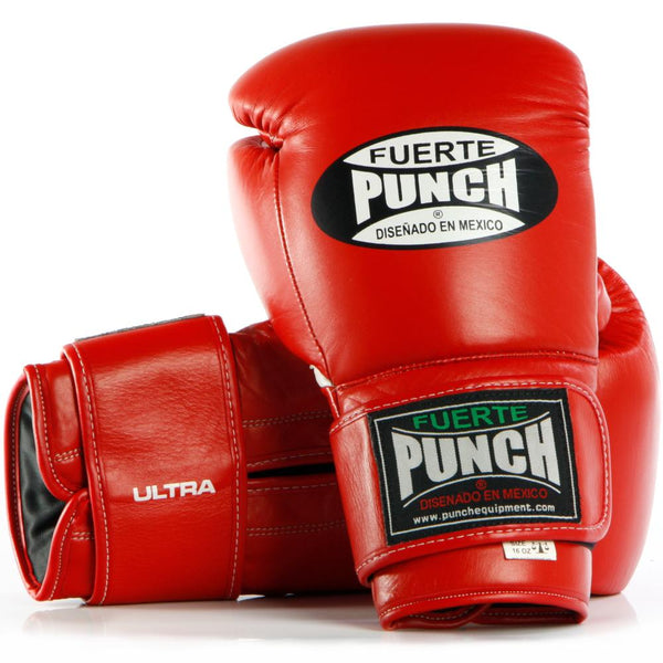 Punch Mexican Fuerte Ultra Boxing Gloves-12oz-Red-MO REPS® Fitness Store