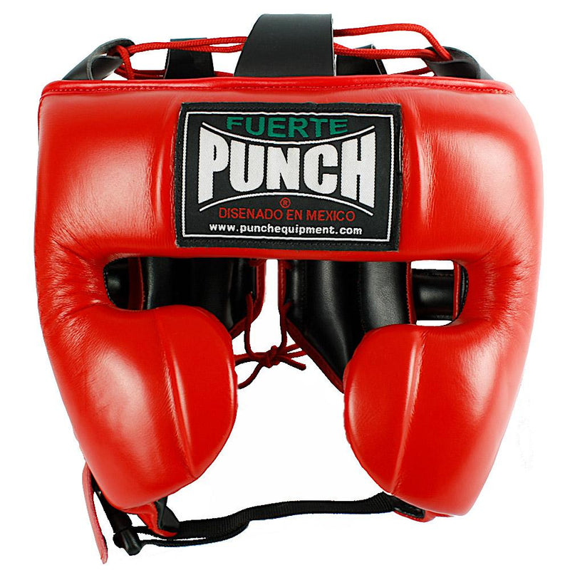 Punch Mexican Fuerte Ultra Boxing Headgear-L-Red-MO REPS® Fitness Store