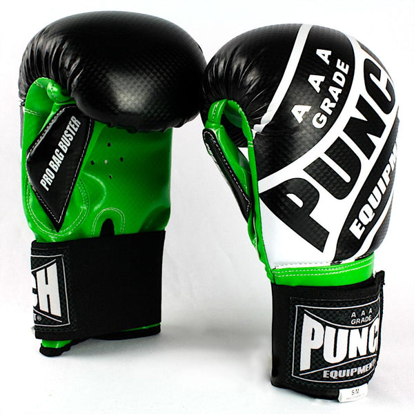 Punch Pro Bag Busters Commercial Boxing Mitts-S/M-BlackGreen-MO REPS® Fitness Store