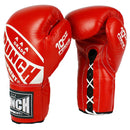 Punch Trophy Getters Lace Up Boxing Fight Gloves-8oz-Red-MO REPS® Fitness Store