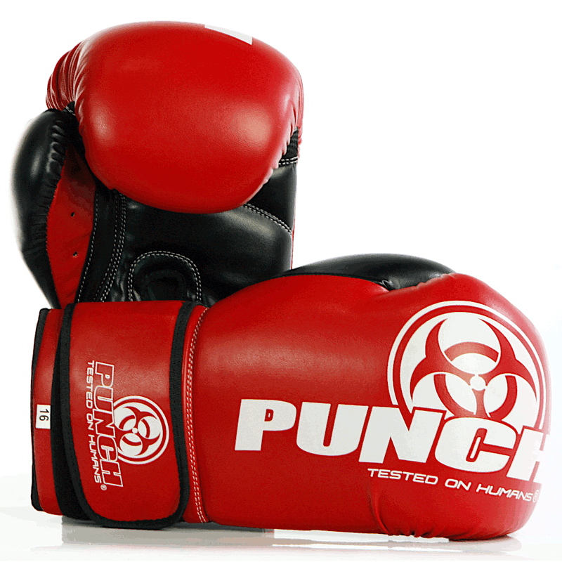 Punch Urban Boxing Gloves V30-12oz-RedBlack-MO REPS® Fitness Store