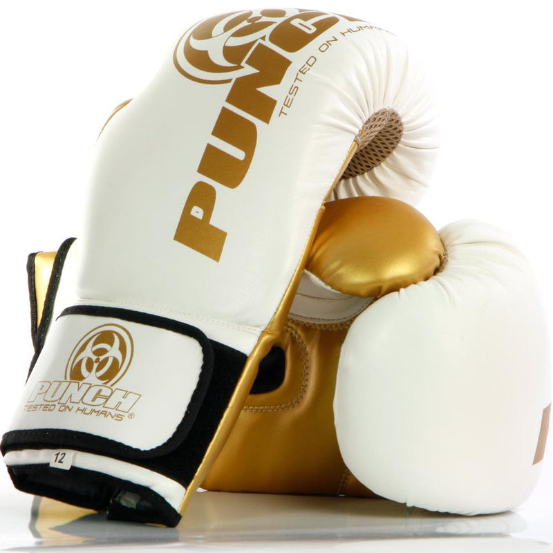 Punch Urban Boxing Gloves V30-12oz-WhiteGold-MO REPS® Fitness Store