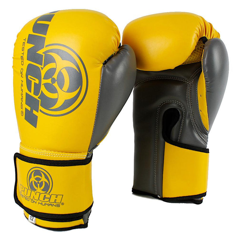 Punch Urban Boxing Gloves V30-12oz-YellowGrey-MO REPS® Fitness Store