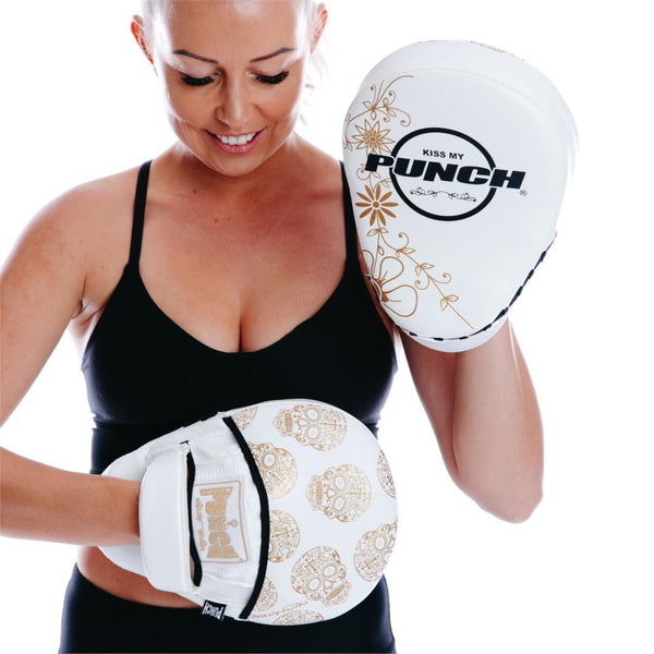 Punch Womens Boxing Focus Pads - Skull Art-MO REPS® Fitness Store