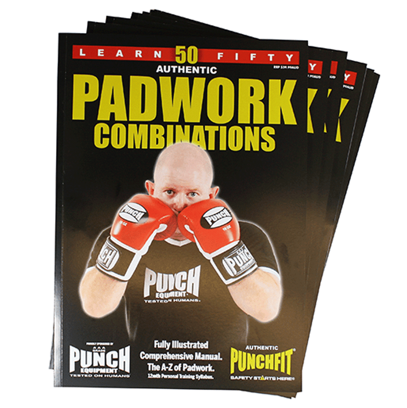Punchfit® 50 Pad Work Boxing Combinations Book-MO REPS® Fitness Store