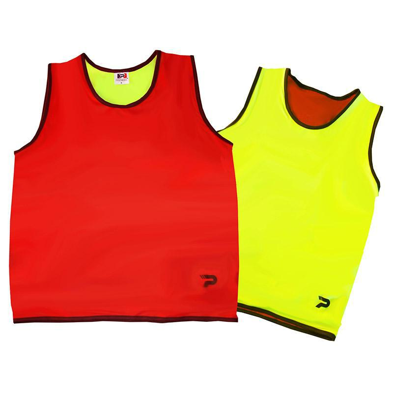 Reversible Training Singlet-XS-RedFluoroYellow-MO REPS® Fitness Store