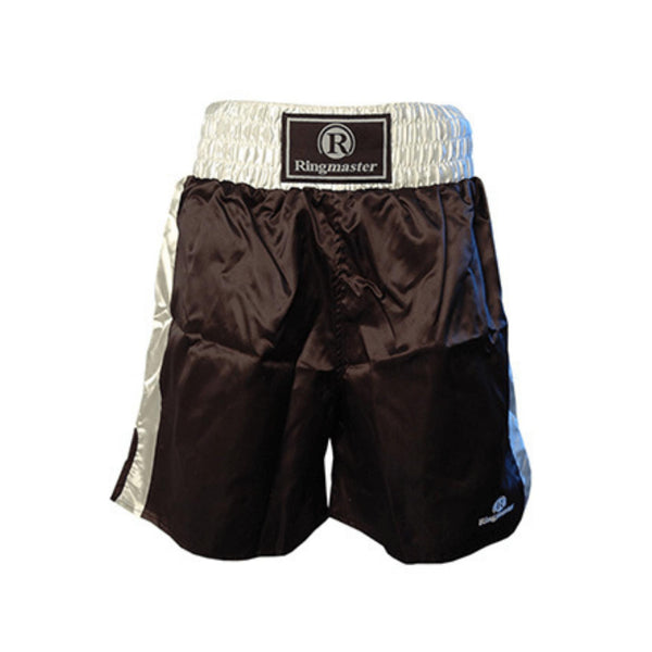 Ringmaster Boxing Shorts Satin-Black-Small-MO REPS® Fitness Store