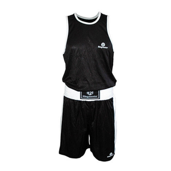 Ringmaster Boxing Shorts & Singlet Set-Black-Small-MO REPS® Fitness Store