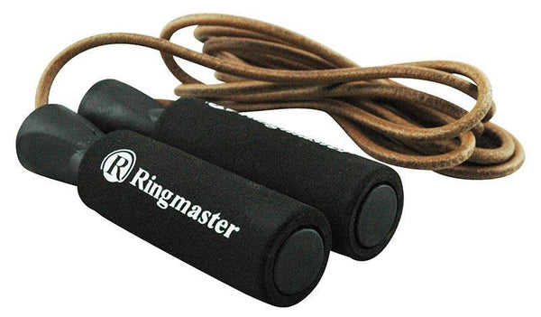 Ringmaster Leather Skipping Skipping Rope 9ft (2.75M)-MO REPS® Fitness Store