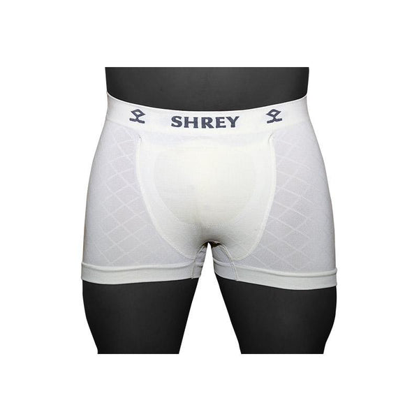 Shrey Cricket Groin Protector Trunks-Juniors-White-MO REPS® Fitness Store