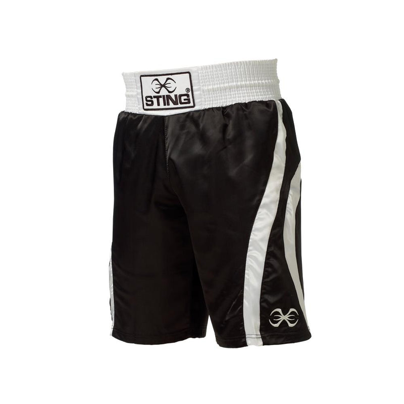 Sting Amateur Style Box Shorts-BLACK-S-MO REPS® Fitness Store