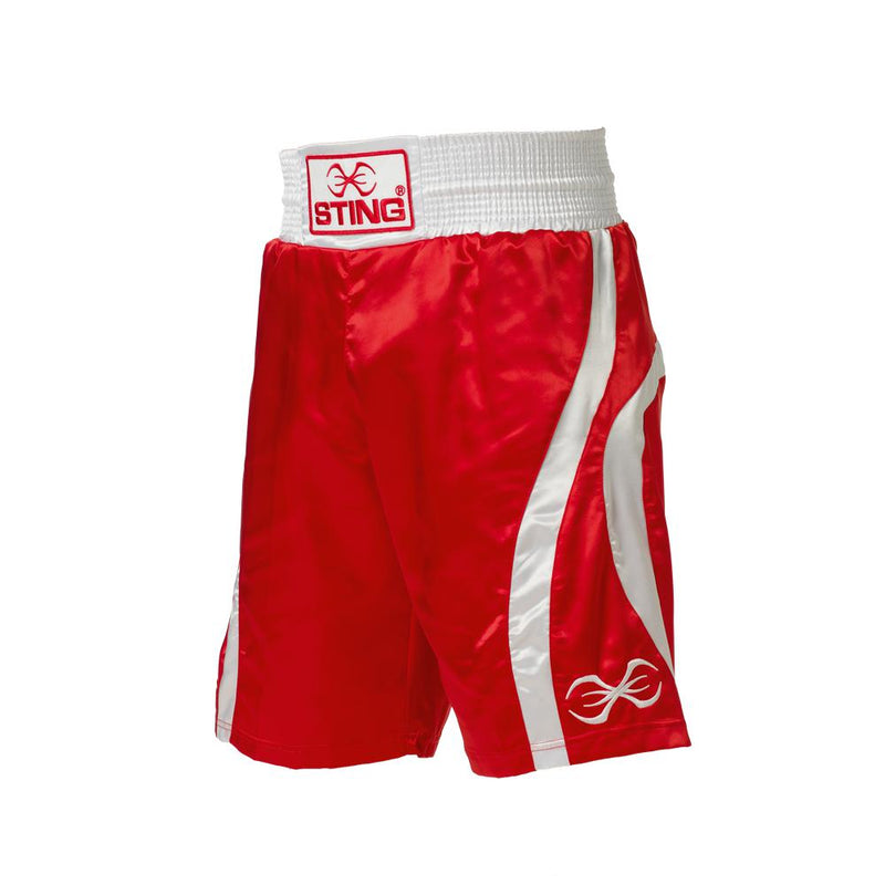 Sting Amateur Style Box Shorts-RED-L-MO REPS® Fitness Store
