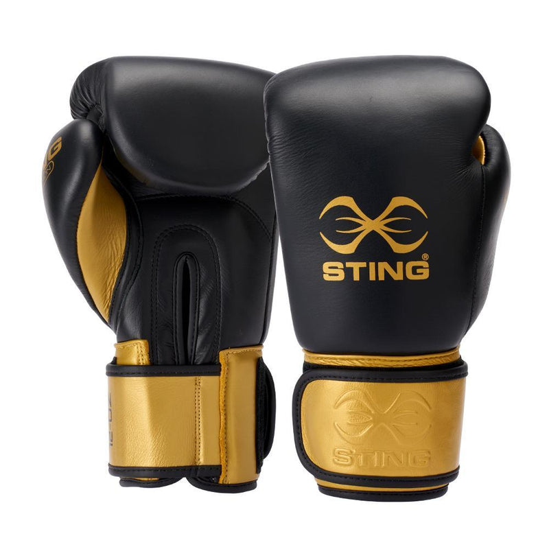 Sting Evolution Boxing Gloves-10OZ-BLACK-MO REPS® Fitness Store