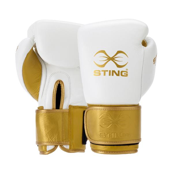 Sting Evolution Boxing Gloves-10OZ-WHITE-MO REPS® Fitness Store