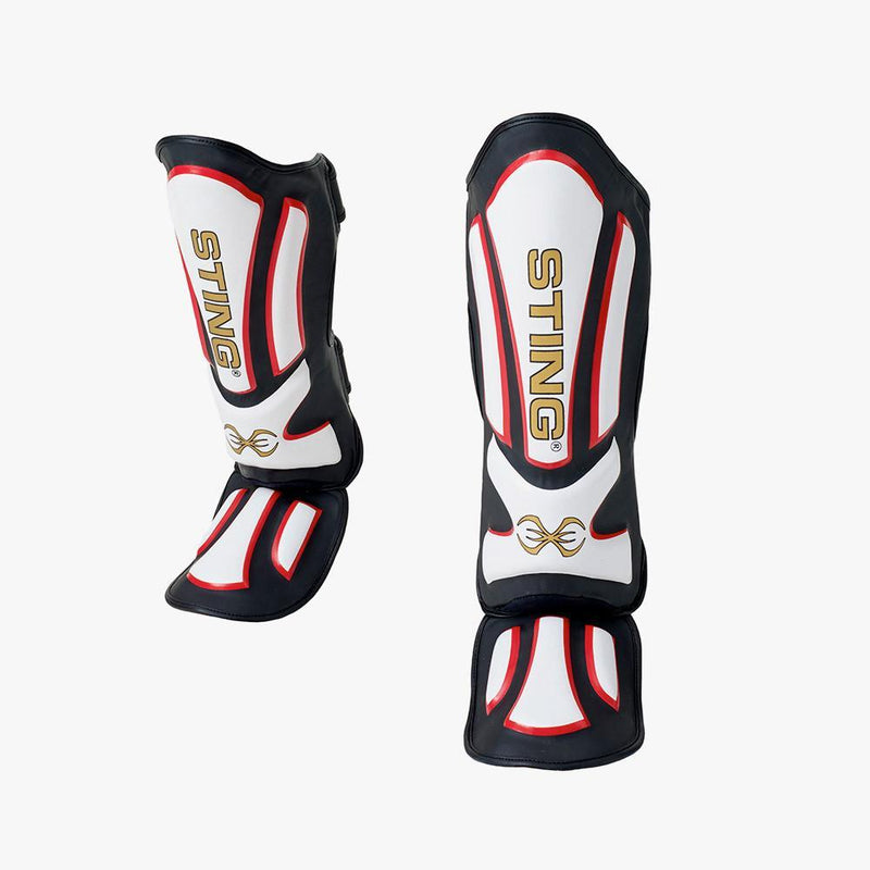 Sting HD Shin & Foot Protectors-WHITE-S-MO REPS® Fitness Store