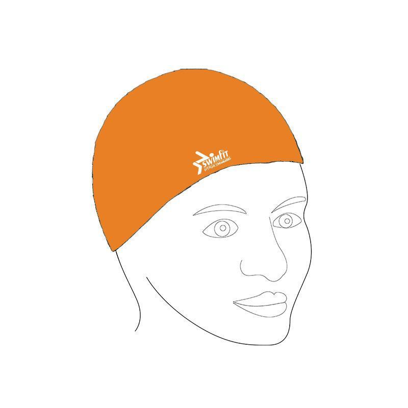 Swimfit Swim Cap - Silicone-Orange-MO REPS® Fitness Store