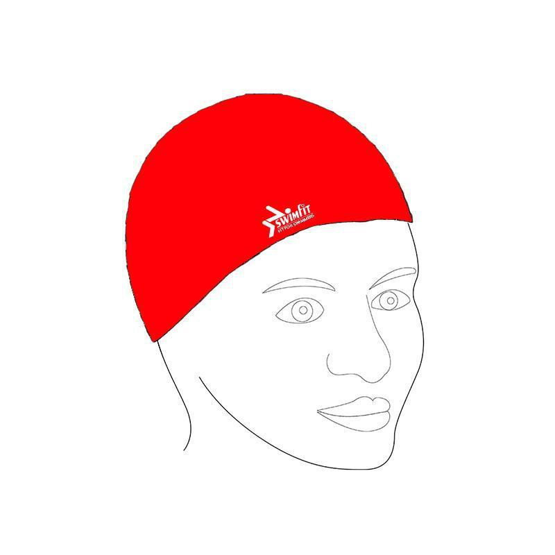 Swimfit Swim Cap - Silicone-Red-MO REPS® Fitness Store
