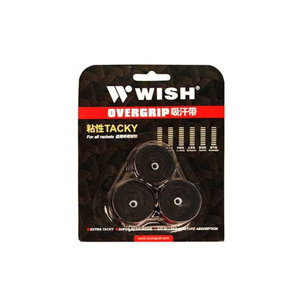 Wish Tennis Overgrips (3 Pack)-Black-MO REPS® Fitness Store