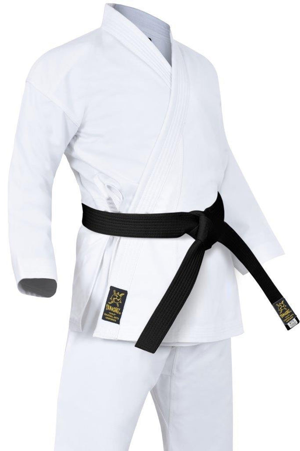 Yamasaki Gold Deluxe Brushed Canvas Karate Uniform (14oz) White-MO REPS® Fitness Store